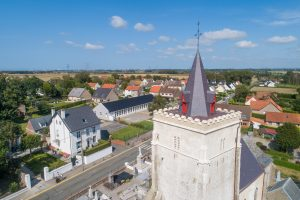 Vue aérienne de l'Eglise